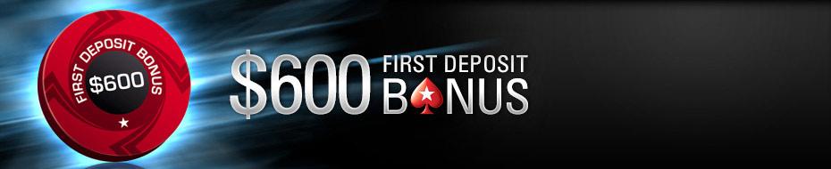 Khuyến mại 600 USD tại PokerStars
