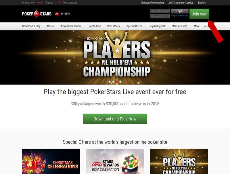 Tạo tài khoản PokerStars