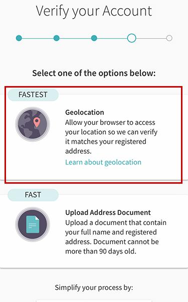 Verify địa chỉ Skrill bằng định vị