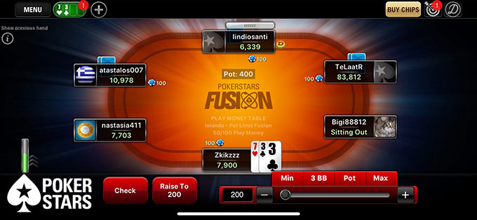 Đánh bài poker miễn phí tại PokerStars