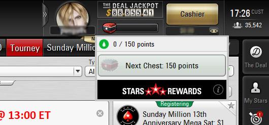 Tích điểm Reward Point đầy thanh tiến độ để nhận thưởng
