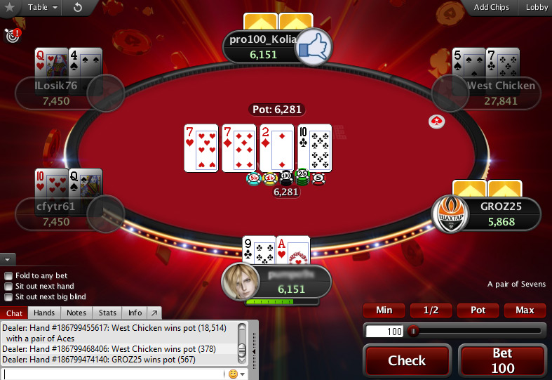 game bài poker mới Showtime Hold'em tại PokerStars