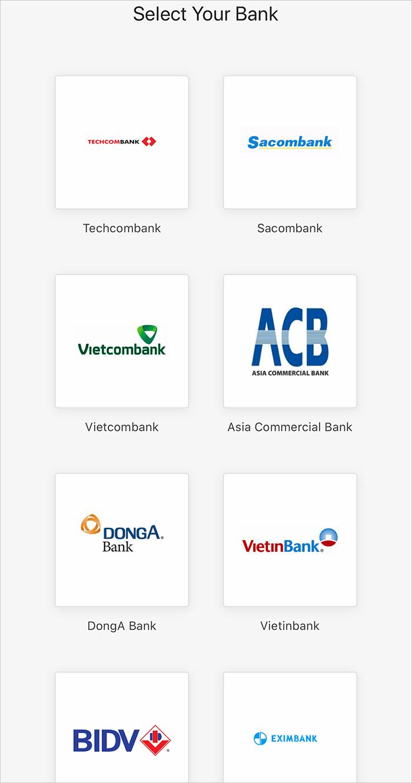 Các ngân hàng được hỗ trợ