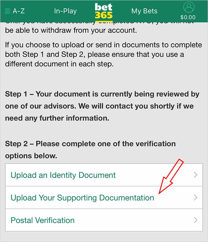 Tài khoản bet365 đã được verify thành công