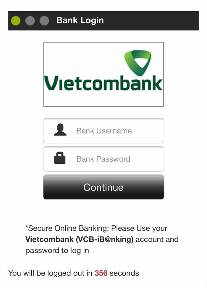 đăng nhập ngân hàng trực tuyến để gửi tiền vào W88