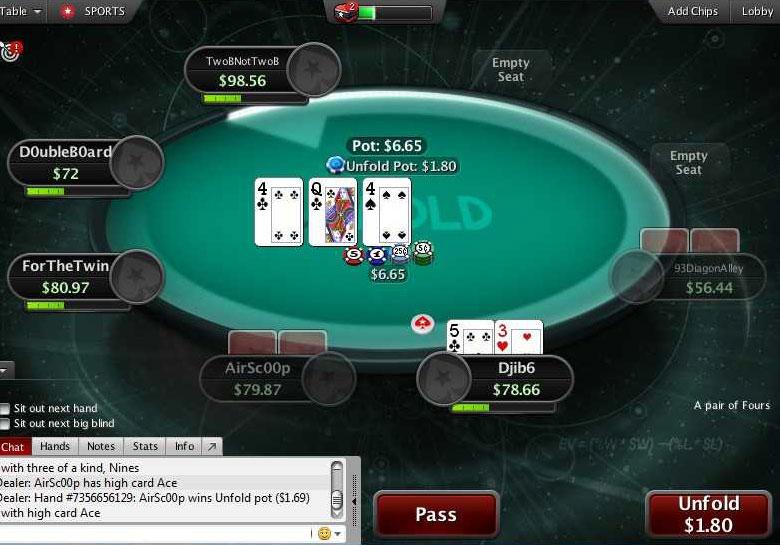 game mới Unfold sắp bị loại bỏ tại PokerStars
