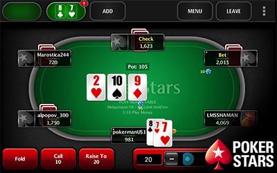 đánh bài tại PokerStars