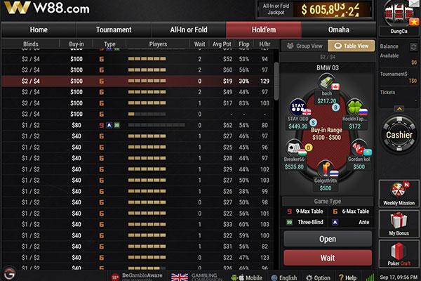 sòng bài W88 Poker