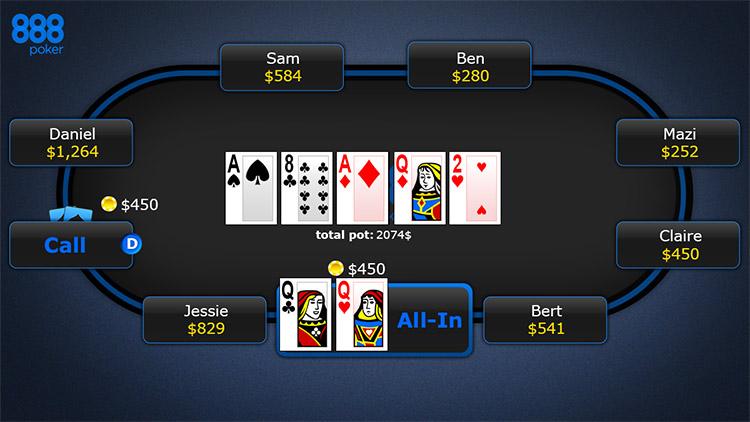 Game đánh bài ăn tiền trên điện thoại tại 888poker