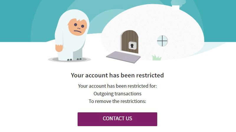 Tài khoản Skrill bị khóa