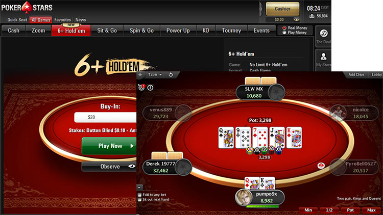 6+ Hold'em tại PokerStars