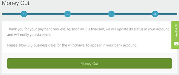 Thông báo lệnh rút tiền Neteller đã được tiếp nhận