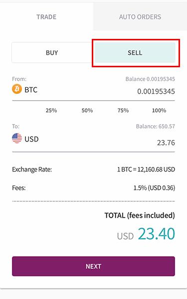 Bán Bitcoin trên ví Skrill